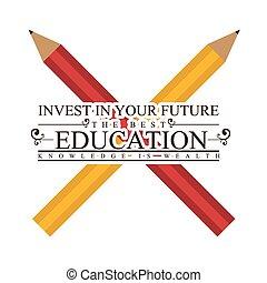 illustration., vector, diseño, educación