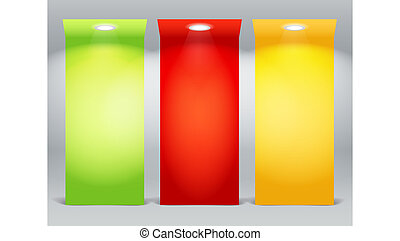 iluminado, colorido, tablas