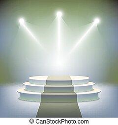 iluminado, etapa, premio, podio