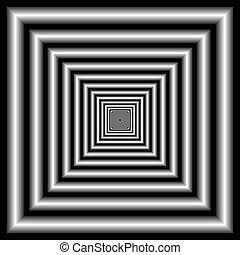 ilusión óptica, tunnel.