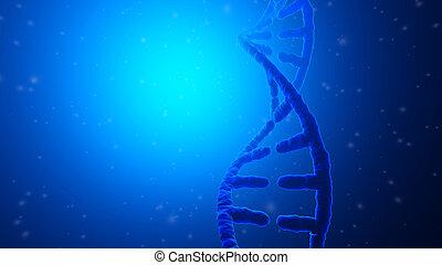 Ilustración 3D de una hélice de ADN