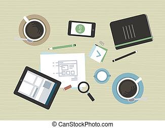 Ilustración absoluta de la reunión de negocios moderna