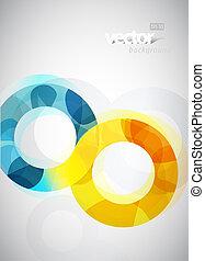 Ilustración abstracta con círculos.