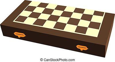 ilustración, ajedrez, panel blanco, vector, fondo.