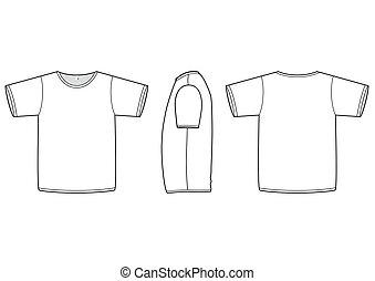 Ilustración básica del vector de camisetas.