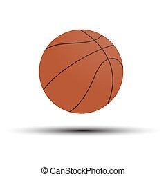 ilustración, baloncesto, basketball., game., vector, símbolo