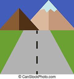 ilustración, blanco, camino, vector, fondo.
