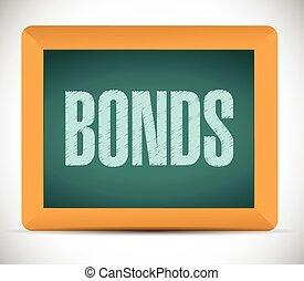 ilustración, bonos, señal, board.