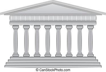 ilustración, cúpula, griego, vector