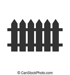 ilustración, cerca, negro, vector, simple, icono, escogido, diseño