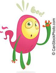 ilustración, character., vector, divertido, caricatura, fantasma