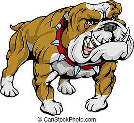 ilustración, clipart, bulldog