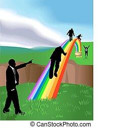 Ilustración comercial del arco iris