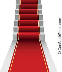 Ilustración de alfombra roja