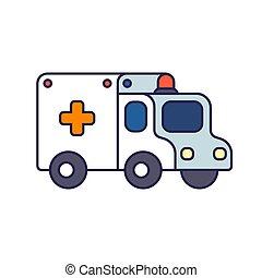Ilustración de ambulancias