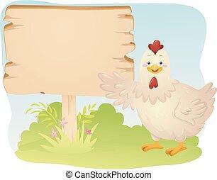 Ilustración de aves de mascota de pollo