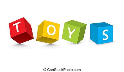 Ilustración de bloques de juguetes