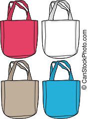 Ilustración de bolsos de moda