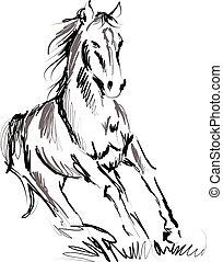 Ilustración de caballo