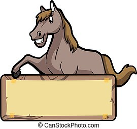 ilustración de caballos