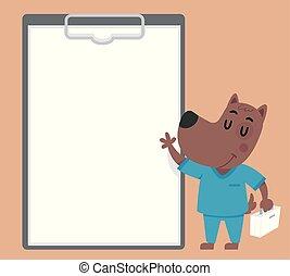 Ilustración de carne de perro