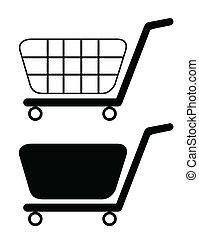 Ilustración de carritos de compras aislados de fondo blanco