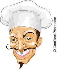 Ilustración de chef de cartón