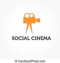 Ilustración de cine social