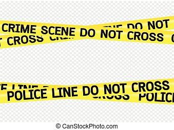 Ilustración de cintas de peligro del crimen