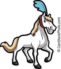 Ilustración de circo de caballos