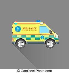 Ilustración de coches de servicio de ambulancia