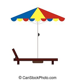 Ilustración de color de la silla de cubierta