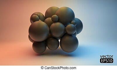 Ilustración de concepto 3D. La plantilla del vector.