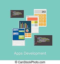 Ilustración de concepto de desarrollo.