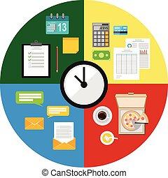 Ilustración de concepto de manejo del tiempo.