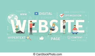 Ilustración de concepto web.
