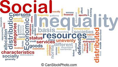 Ilustración de conceptos de desigualdad social