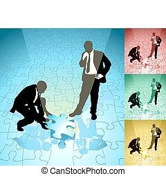 Ilustración de conceptos de Jigsaw