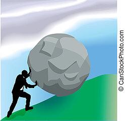 Ilustración de conceptos de negocios de la colina