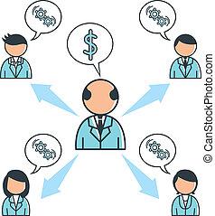 Ilustración de conceptos de negocios