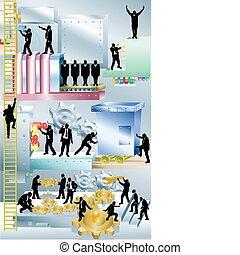 Ilustración de conceptos empresariales