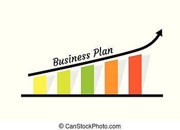 Ilustración de crecimiento empresarial con gráfico