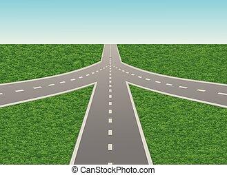 Ilustración de cruce de carretera en la autopista