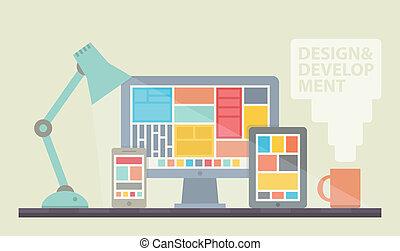 Ilustración de desarrollo en Internet