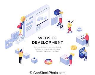 Ilustración de desarrollo web