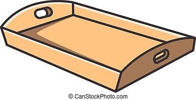 Ilustración de dibujos animados de vector de tray