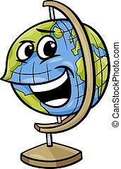 Ilustración de dibujos animados del Globe