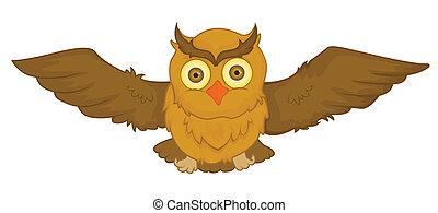 Ilustración de dibujos animados vector de búho