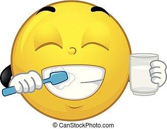 Ilustración de dientes de mascota sonriente