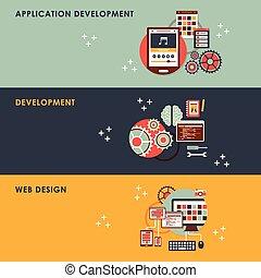 Ilustración de diseño plano para el desarrollo de la web